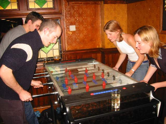 Table football in the Gordons