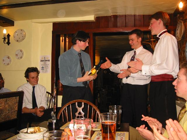 Tom receives an award for the Funky Elephant
