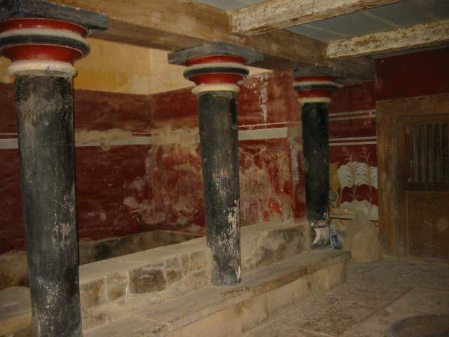 Throne room in Konnossos