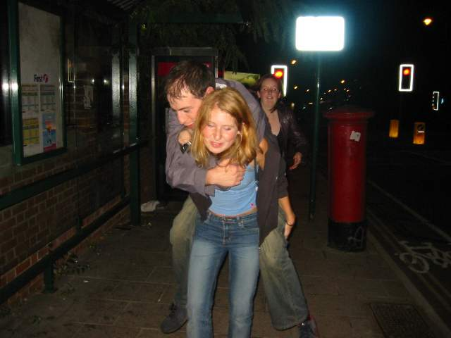 Piggy backs on the way home