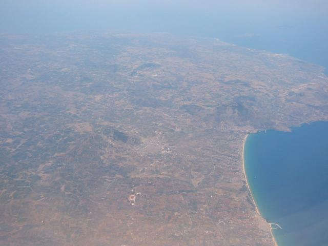 Sicily from the Plane