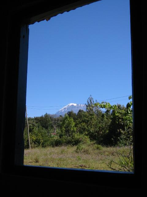 View of Kilimanjaro from the school
