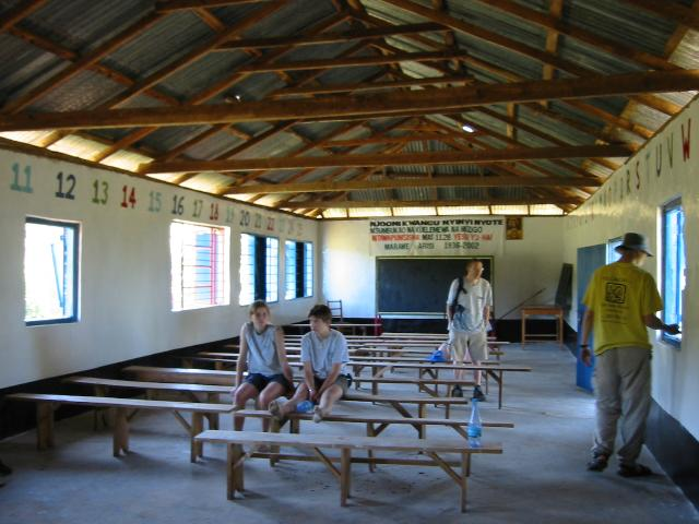 Inside the completed school
