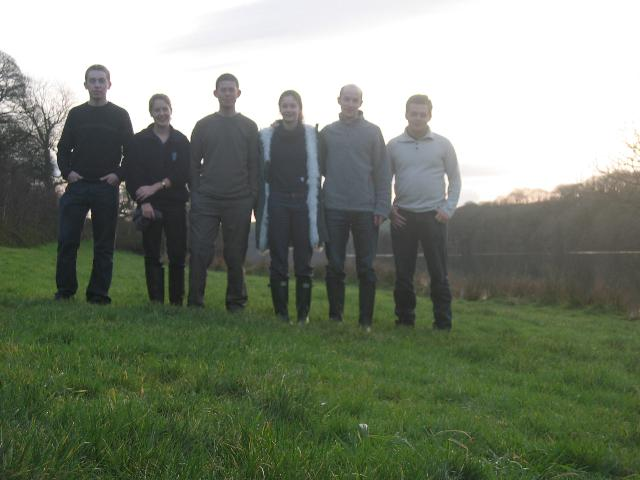 Group photo by the reservoir