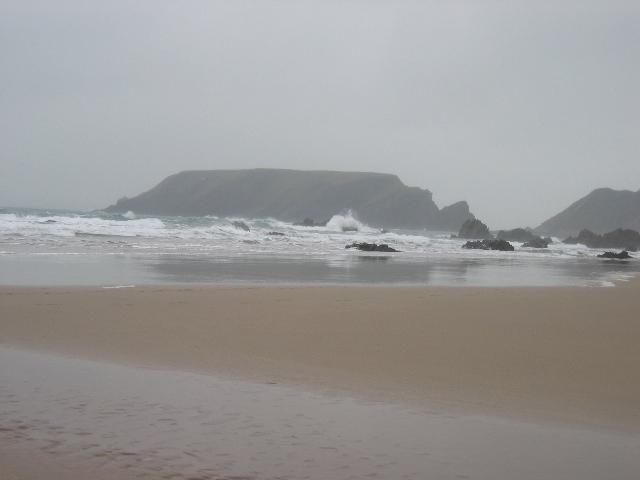 Waves on Marloes sands